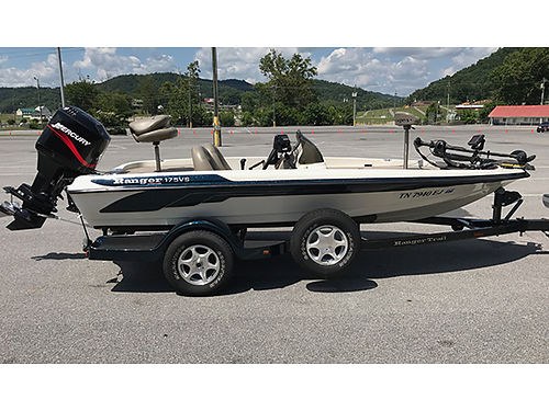 2005 RANGER 175VS Bass Boat 175 Mercury 115 Exc Cond garage kept 2 new Fish Finders  Custom R