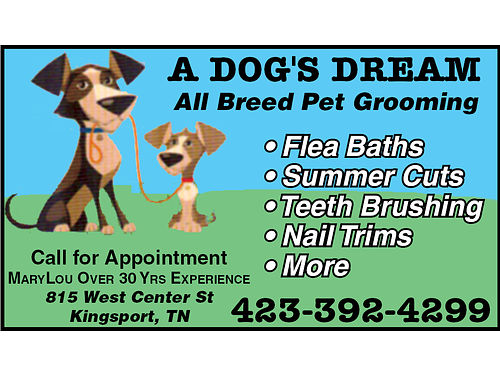 ALL BREED PET GROOMING 423-392-4299