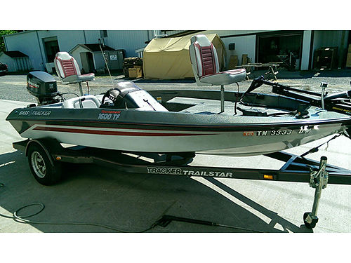 BASS TRACKER 16 115hp Johnson trolling motor excellent shape low hours 5500 423-384-4440