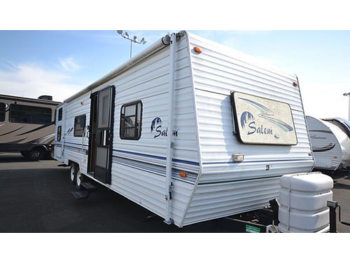 2000 SALEM bunkhouse 31 travel trailer no slides fully self contained sleeps 8 new tires new