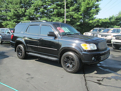 2004 TOYOTA SEQUOIA 47L v8 auto 4x4 Limited sunroof 3rd row very nice 0746 9900 LIGHTNING A