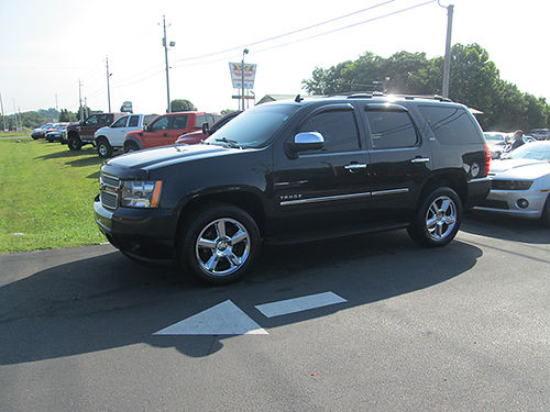 2011 CHEVY TAHOE LTZ 3rd row blk on blk loaded 4WD nav leather DVD factory 20s 1511 23900