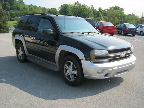 2005 CHEVY TRAILBLAZER LT 4dr 4x4 pwr sunroof auto pl pw cd leather tow hitch 5515 6495 J