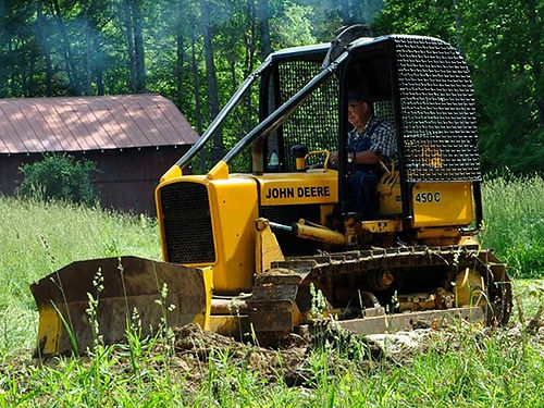 BULLDOZER 450C John Deere 6-way blade over 85 good under carrage NEW power take off shaft 100f