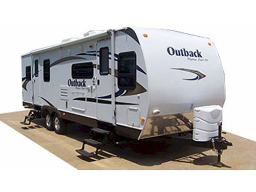 2010 KEYSTONE OUTBACK M-286 FK 32 dual tandem fully self contained large slideout alum wheels