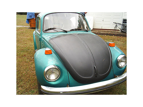 1973 VW SUPER BEETLE 1600 engine car has been mechanically redone excellent car to restore 2500 4