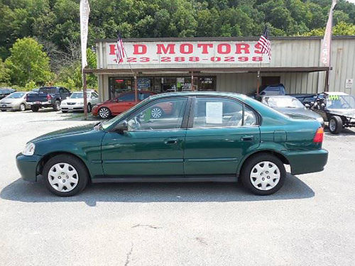 1999 HONDA CIVIC VP auto cold air Low Miles Cash Special 515793 2999 HD MOTORS KPT TN