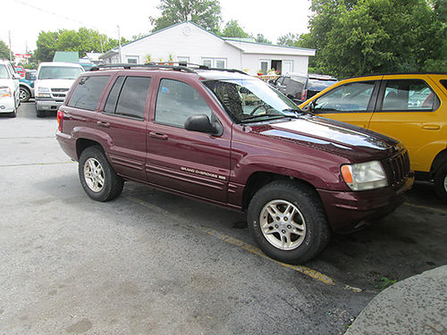 1999 JEEP GRAND CHEROKEE v8 auto maroon leather all power 4dr cd sunroof alloy wheels 234k