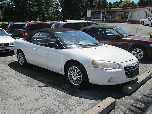 2004 CHRYSLER SEBRING 6cyl FWD white leather all power 2dr alloy wheels 153k 19172 3200 AL