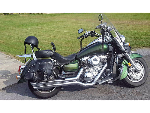 2003 KAWASAKI VULCAN 1600 Custom chameleon paint many Kuryican accessories Mustang seat well mai