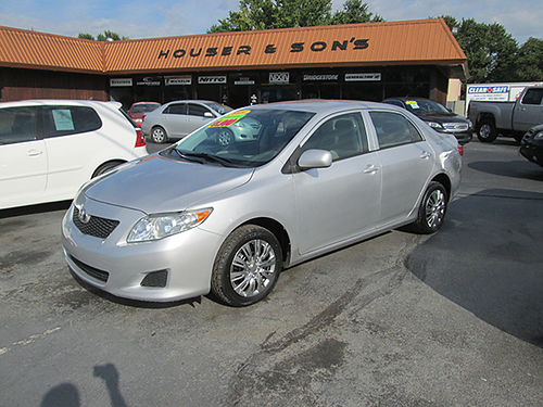 2009 TOYOTA COROLLA LE 4 cyl auto all power new tires clean TCLF 5990 HOUSER  SONS Blountvi