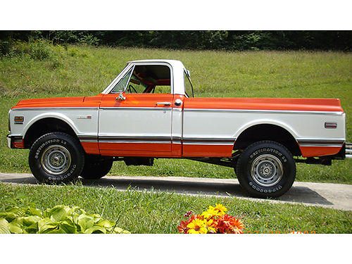 1972 CHEVY CHEYENNE short bed 4 wheel drive 400 completely restored automatic tilt wheel ac