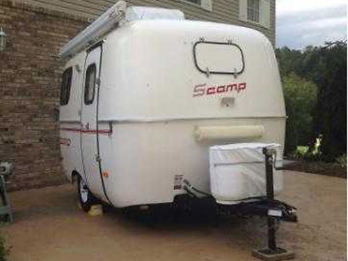 2014 SCAMP 13 wbath Loaded pull with most vehicles go where the big boys cant 13500 423-220