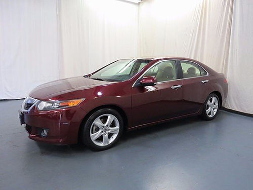 2009 ACURA TSX 5 speed burgundy FWD 4dr keyless entry auto 5sp loaded pw pl cd leather 07