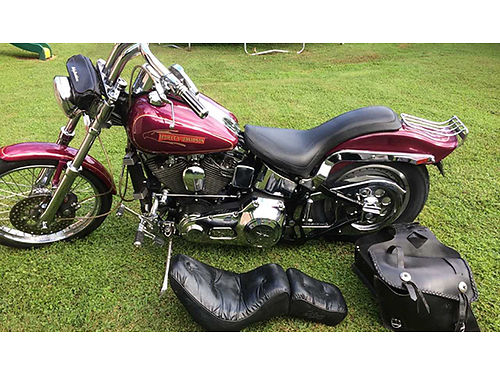 1991 HARLEY SOFTAIL Custom top rebuild original  custom seat VH shotgun pipes soft bags runs
