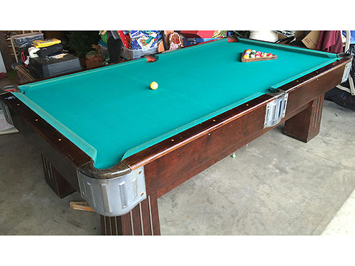 POOL TABLE antique built in 1930s 1 slate top pool table unrestored been in family since 1930