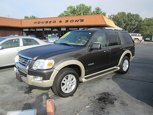 2006 FORD EXPLORER Eddie Bauer 4x4 leather psunroof 3rd row 6 cyl fully loaded clean SUV F0