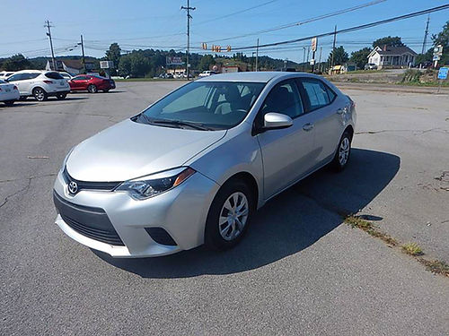 2016 TOYOTA COROLLA 18L one owner 30208 miles 12139 14550 CARLS AUTO 866-883-2302