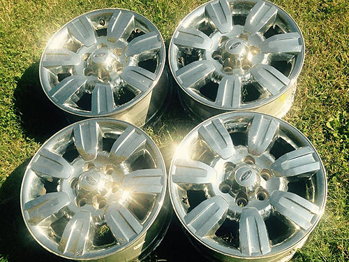 WHEELS Ford F150 18 6 lug chrome plated alum wheels very nice 195 will trade 423-612-3519
