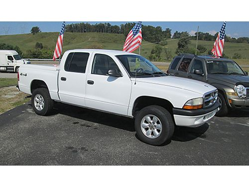2004 DODGE DAKOTA crew cab sport 4x4 auto 93k miles fiberglass bed cover one owner 2303 8995