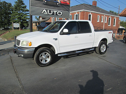 2002 FORD F150 super crew FX4 4x4 54 V8 crew cab all power CD local extra nice warranty avai