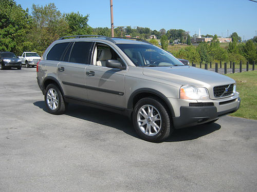 2004 VOLVO XC90 T6 AWD champagne psunroof 6 cyl auto turbo loaded leather local alloys 08