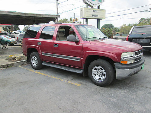 2004 CHEVY TAHOE maroon V8 auto leather all pwr air alloy wheels 19461 4600 ALLEN HODGE MO