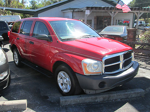 2004 DODGE DURANGO V8 auto all power red 4 dr tilt cruise alloys 132k miles 19521 3400 ALL