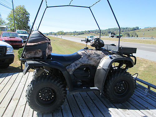 2009 HONDA FOREMAN 500 1100 miles 4x4 auto camo cover cab lots of extras Boss Pack bought new