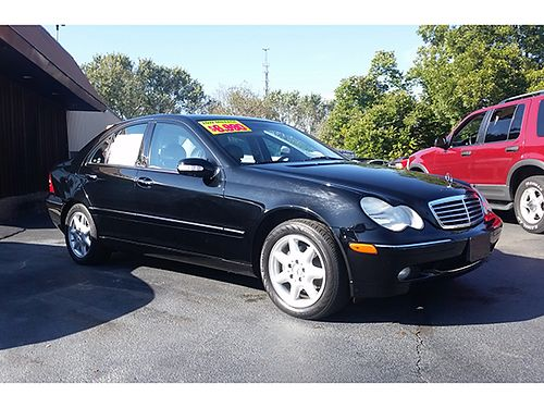 2002 MERCEDES C240 SPORT 6cyl power sunroof leather all pwr 62k low miles garage kept M02C 6