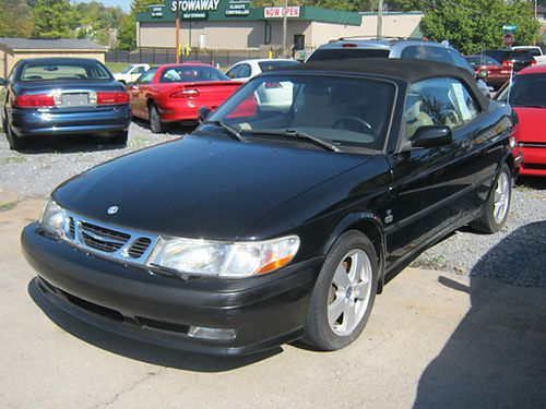 2003 SAAB 93 black low miles convertible 4cyl turbo air all pwr CD tilt cruise 3547 4950