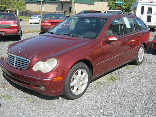 2003 MERCEDES C240 4MATIC burgundy pwr sunroof 4dr loaded air all pwr CD leather tilt cruis