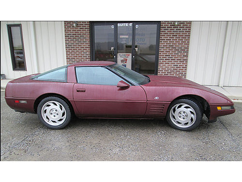 1993 CHEVROLET CORVETTE 4Oth Anniversary Ed ruby red 350 V8 auto air tilt cruise loaded 106K