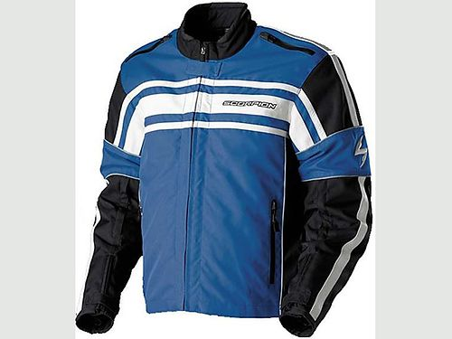 MOTORCYCLE JACKET All weather leather textile Scorpion Strike Used very little CE armor in elbows