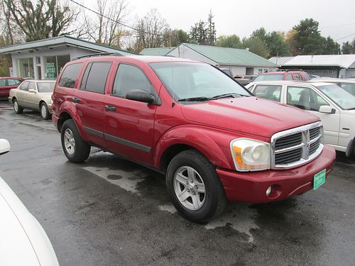 2006 DODGE DURANGO maroon V8 auto RWD tan cloth all pwr 4dr air CD alloy wheels 173k miles