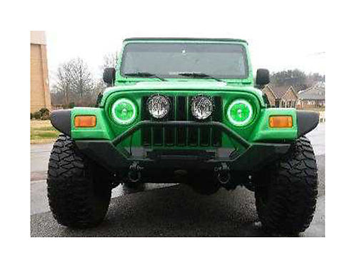 2004 JEEP WRANGLER Unlimited green auto MT wheels  tires 33x1250R15 LED headlights new framl