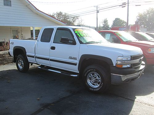 2002 CHEVY SILVERADO 2500 HD Duramax diesel Allison auto 4x4 leather ext cab loaded new tires