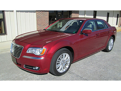 2014 CHRYSLER 300 LX Deep Cherry Red wbeige leather 36L V6 auto AWD air tilt cruise loaded