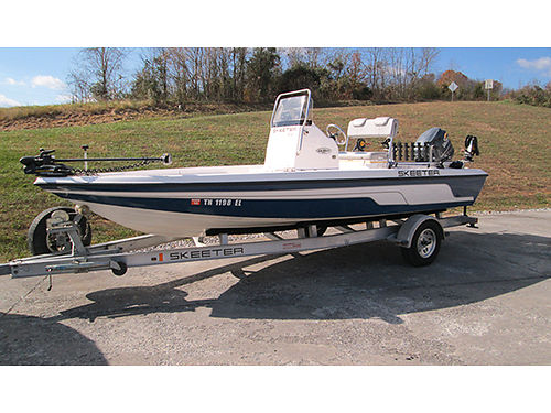 2007 SKEETER ZX20 Bay boat 20 115hp Yamaha 4-stroke built-in bait tanks wash down 2 depth fi