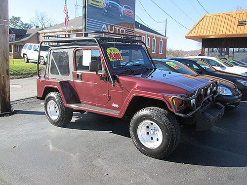 2001 JEEP WRANGLER SPORT 4x4 40L 6 cyl 5 sp air CD new tires Landrunner Pkg too much to list