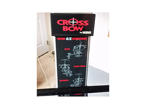 CROSSBOW by Weider workout system over 65 exercises folds up for storage 100