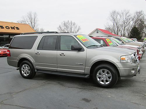 2008 FORD EXPEDITION EL XLT 4x4 all power CD power 3rd row seating running boards new tires ex