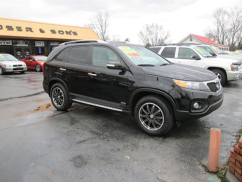 2011 KIA SORENTO EX 4X4 leather nav sunroof custom wheels sharp suv carfax one owner K511 9