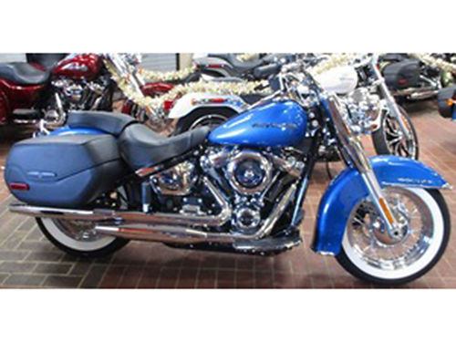 2018 HARLEY-DAVIDSON FLDE Softail Deluxe Stock 039703 Electric Blue Mileage 8 Call for quote