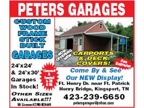 GARAGES Built To Suit You Peters Garage Kingsport TN 423-239-6650