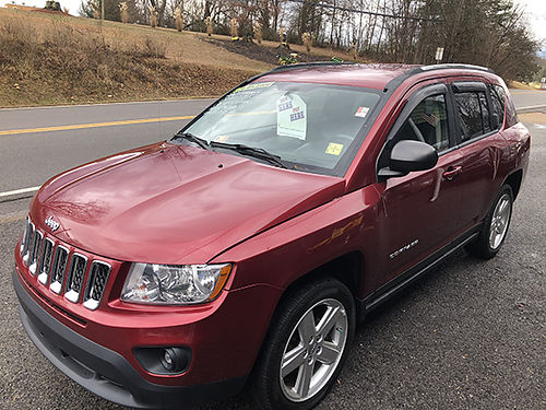 2012 JEEP COMPASS maroon 4x4 4 door keyless entry 4cyl auto loaded leather tilt cruise 89K