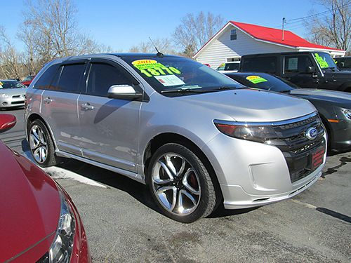 2011 FORD EDGE Sport 4x4 sunroof heated leather factory 22 wheels 62k low miles One Bad Edge