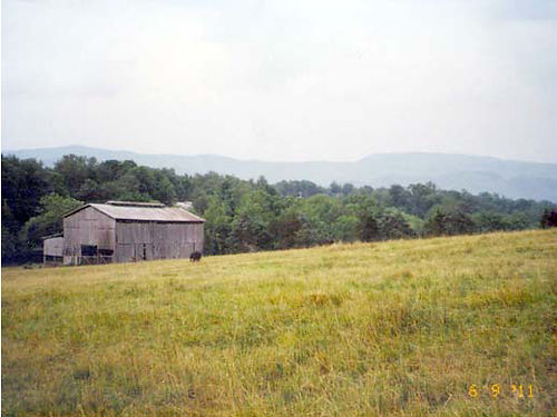 WASHINGTON COUNTY TN 22 acre farm beautiful mountain view some level  rolling hills barn creek