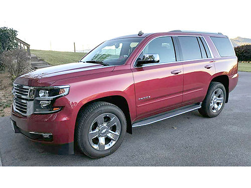 2015 CHEVROLET TAHOE LTZ Crystal Ice Red V8 auto 4WD fr air tilt cruise loaded heated  co