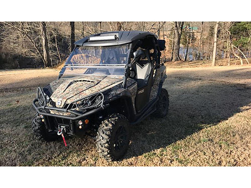 2014 CAN-AM COMMANDER XT 800cc 1020 miles roof windshield mirrors signal lights horn lockwell
